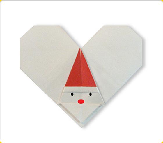 すべての折り紙 折り紙 ハート 作り方 : ... さんた X'mas クリスマス折り紙